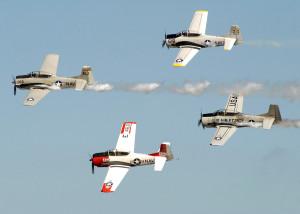 aerial team Trojan Horsemen