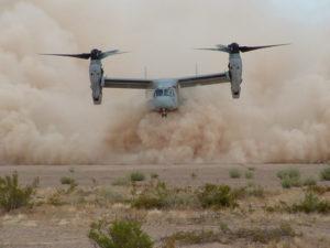 MV-22 Dust Hover